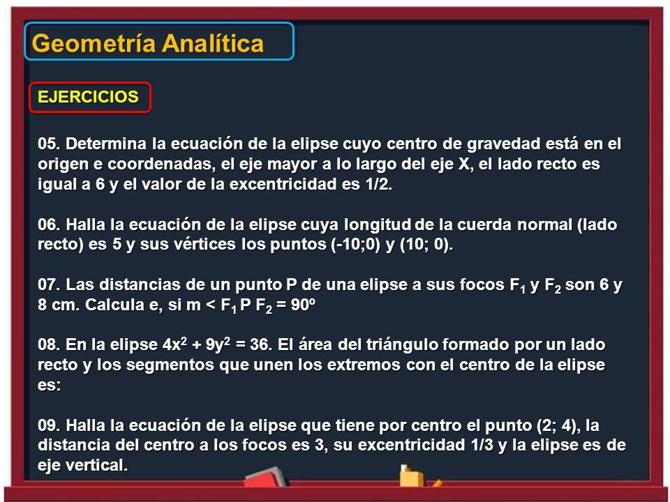 Geometría Analítica EJERCICIOS