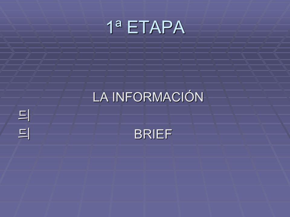 1ª ETAPA LA INFORMACIÓN BRIEF