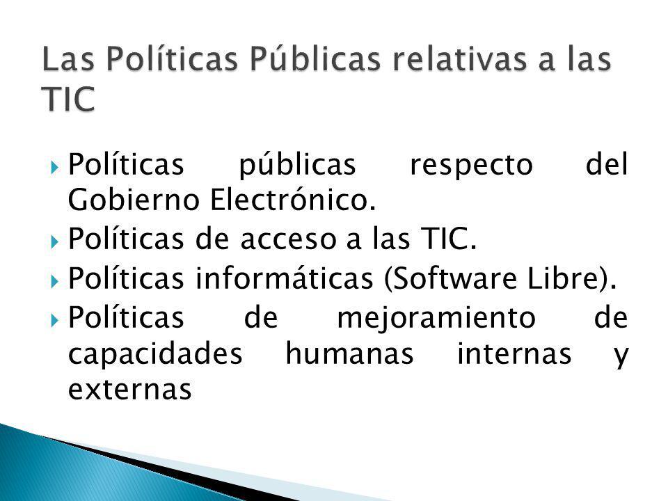 Las Políticas Públicas relativas a las TIC