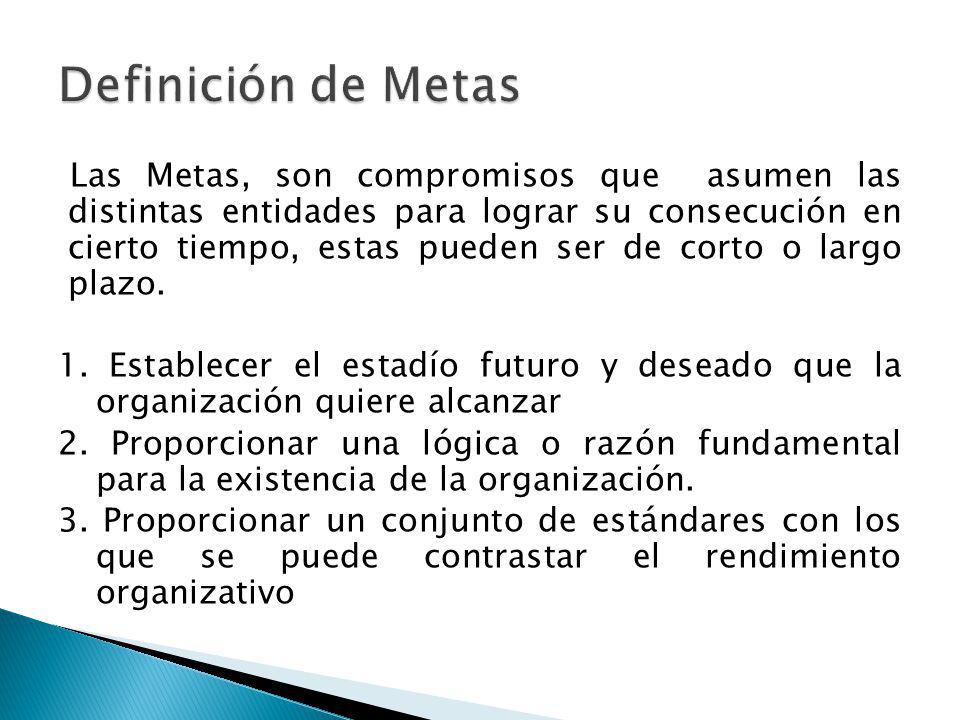 Definición de Metas