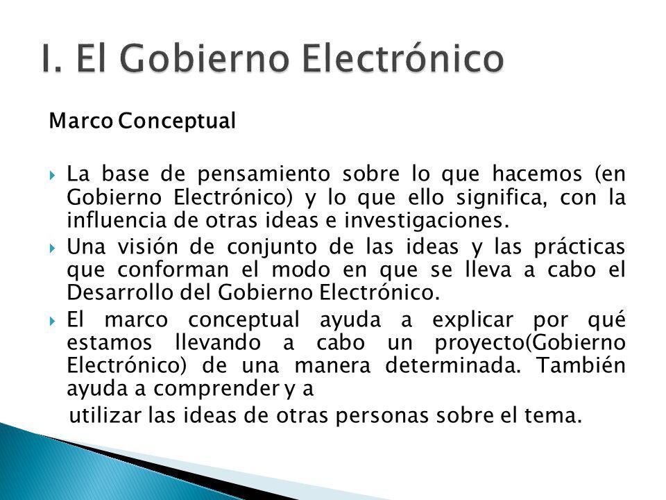 I. El Gobierno Electrónico