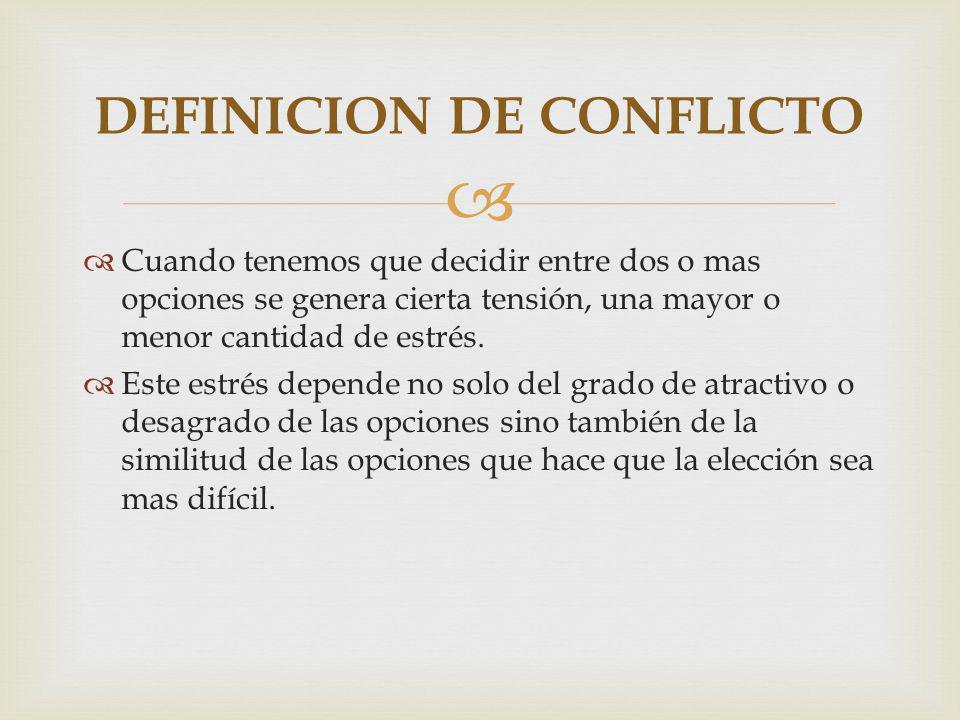 DEFINICION DE CONFLICTO