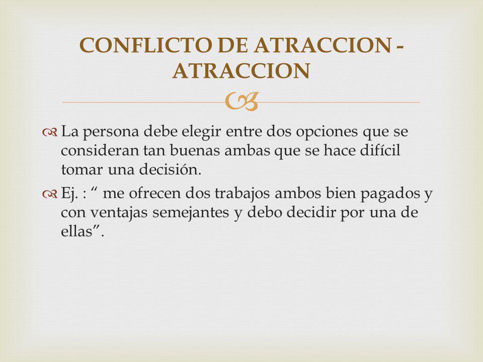 CONFLICTO DE ATRACCION - ATRACCION