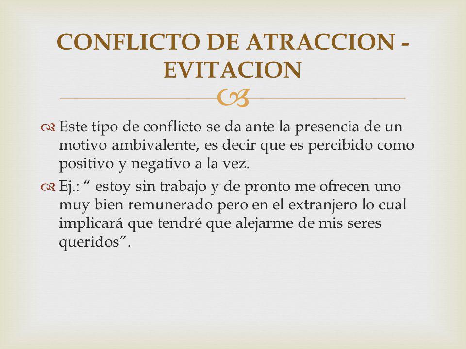 CONFLICTO DE ATRACCION - EVITACION