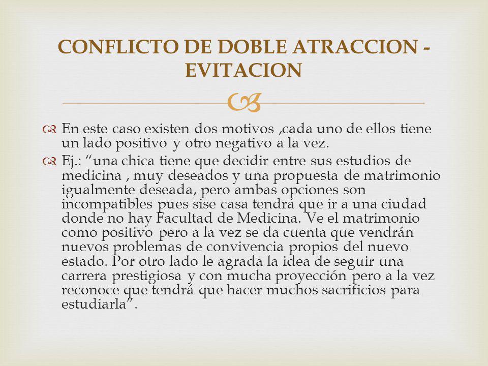 CONFLICTO DE DOBLE ATRACCION - EVITACION
