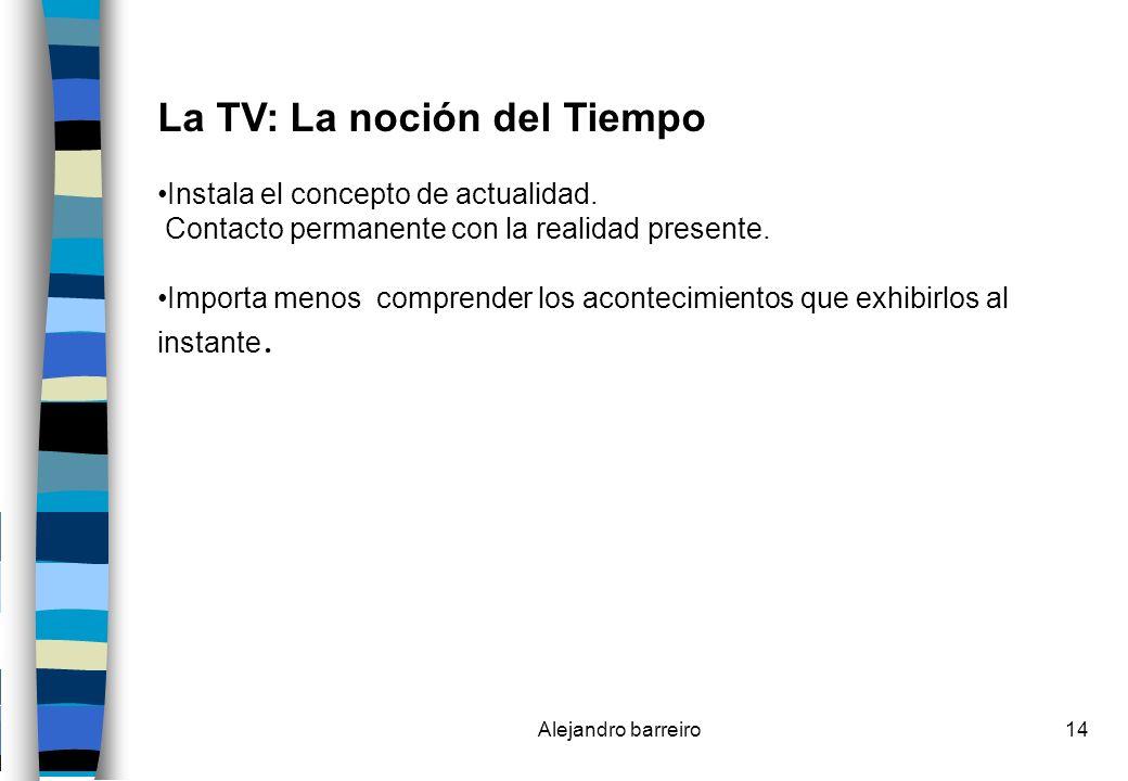 La TV: La noción del Tiempo