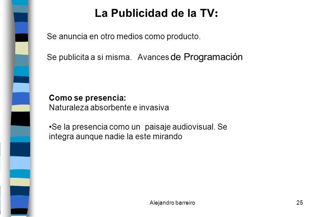 La Publicidad de la TV: Se anuncia en otro medios como producto.