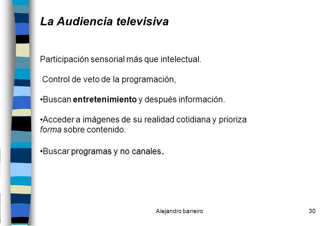 La Audiencia televisiva