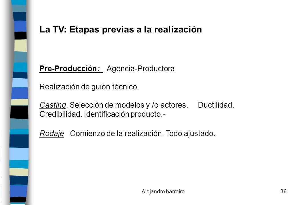 La TV: Etapas previas a la realización