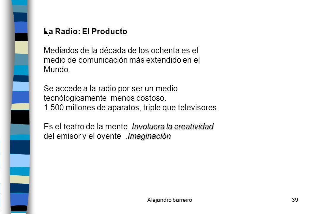 . La Radio: El Producto Mediados de la década de los ochenta es el