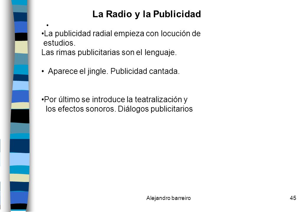 La Radio y la Publicidad .