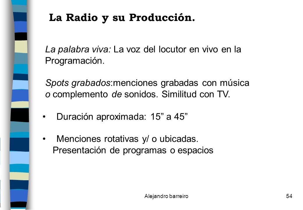 La Radio y su Producción.