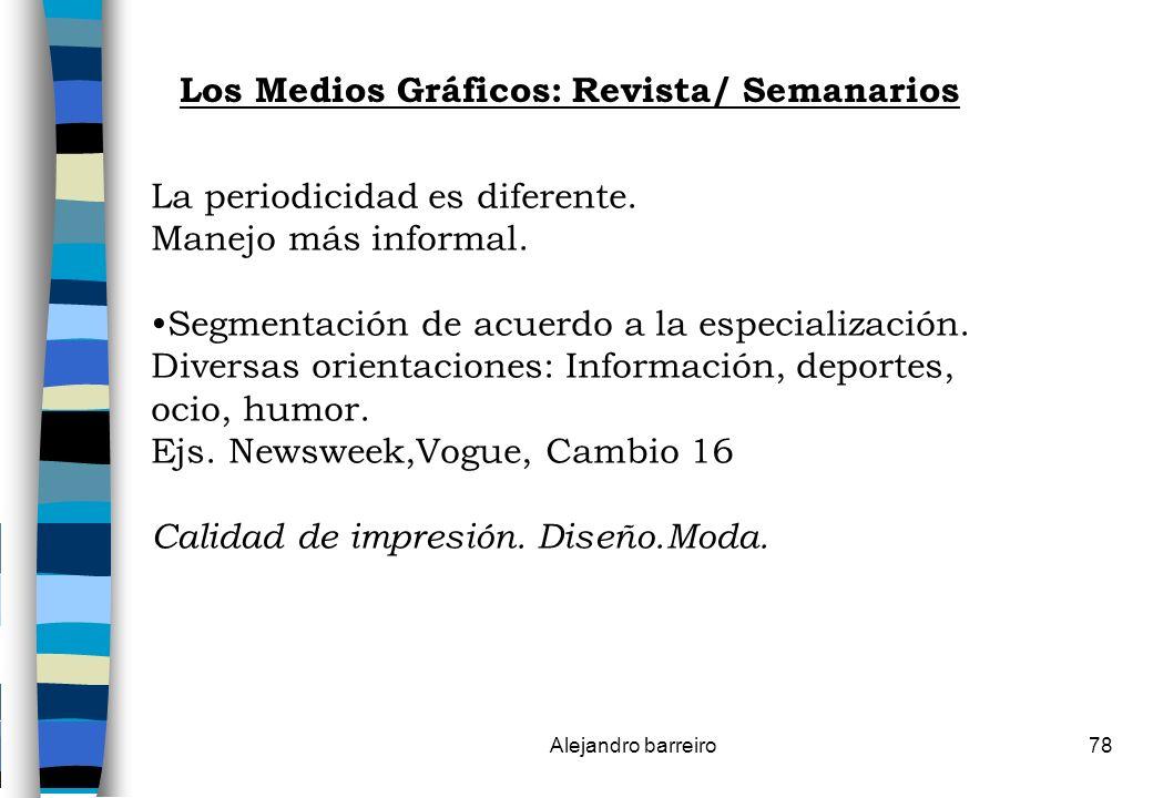 Los Medios Gráficos: Revista/ Semanarios