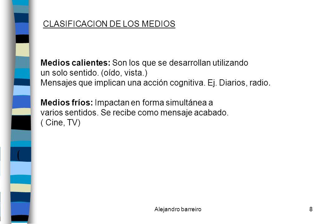 ( CLASIFICACION DE LOS MEDIOS