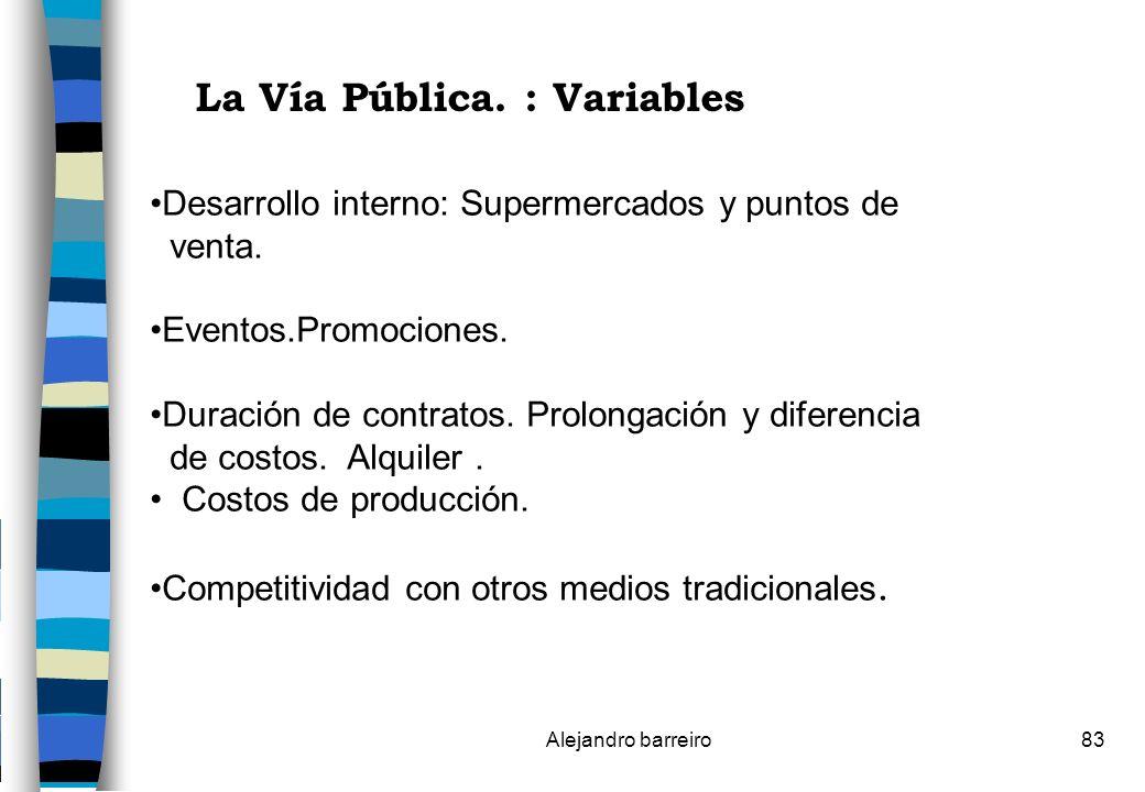 La Vía Pública. : Variables