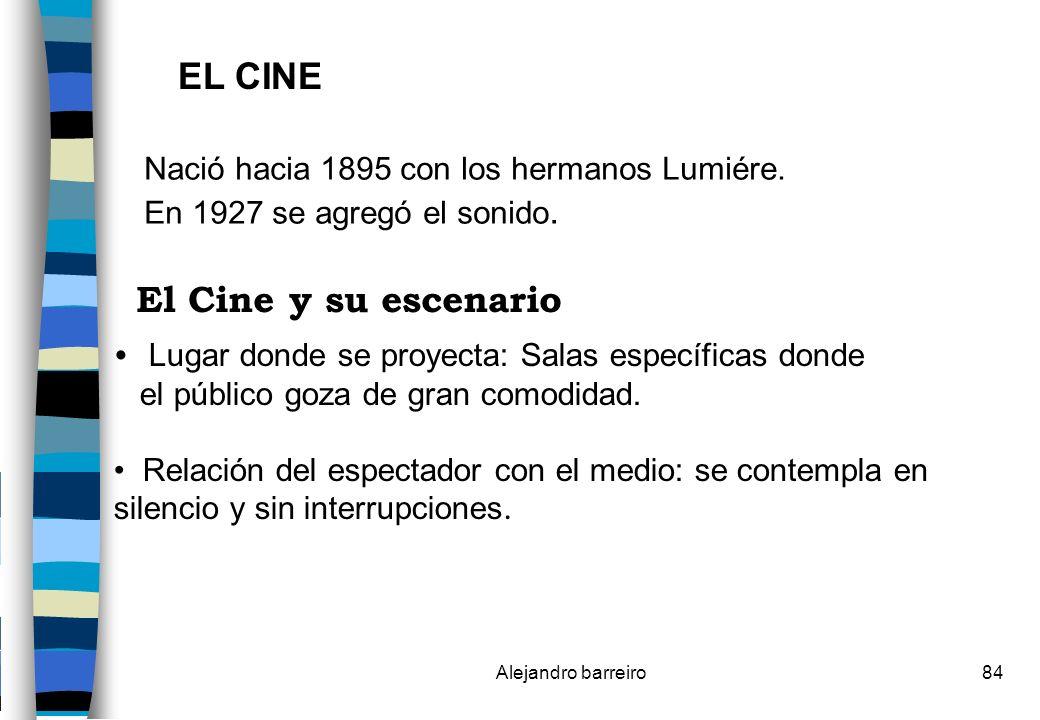 EL CINE El Cine y su escenario