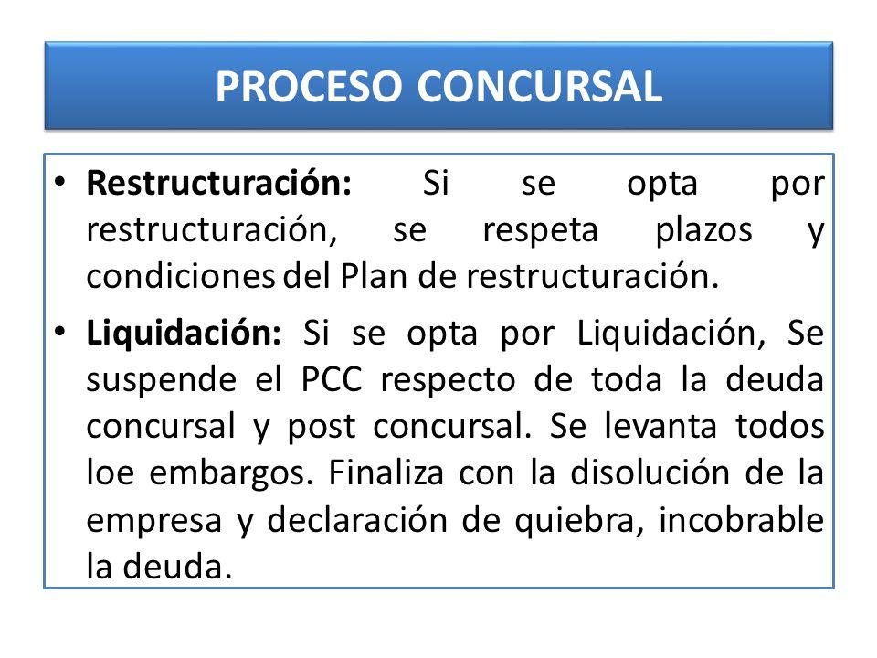 PROCESO CONCURSAL PROCESO CONCURSAL