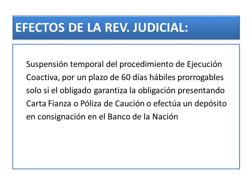 EFECTOS DE LA REV. JUDICIAL: