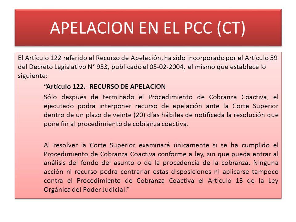 APELACION EN EL PCC (CT)