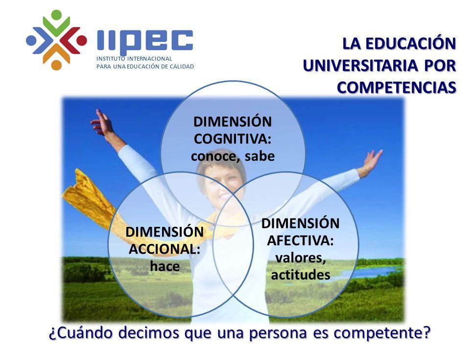LA EDUCACIÓN UNIVERSITARIA POR COMPETENCIAS