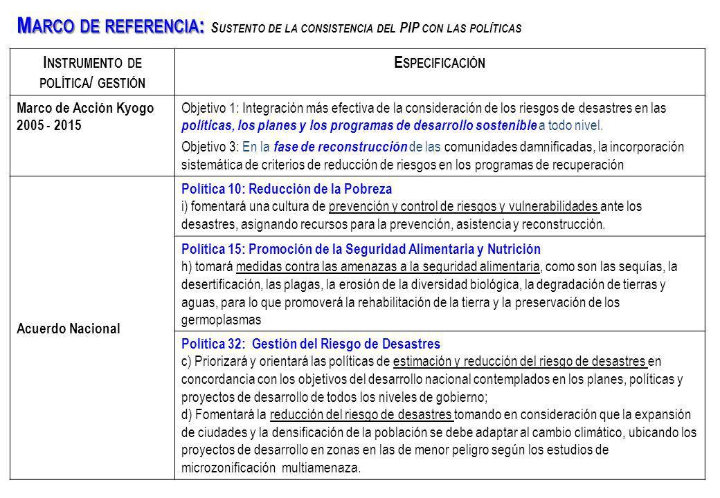 Instrumento de política/ gestión