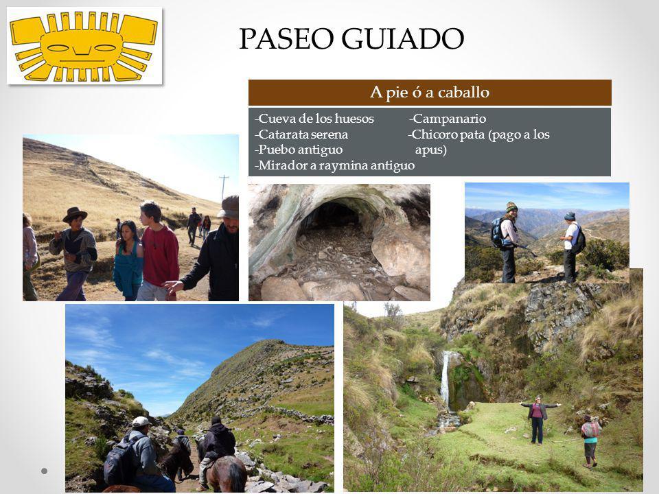 PASEO GUIADO A pie ó a caballo -Cueva de los huesos -Campanario