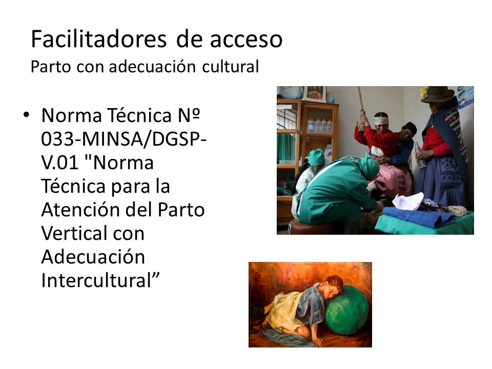 Facilitadores de acceso Parto con adecuación cultural