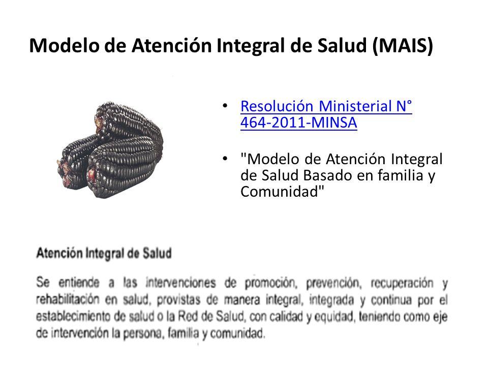 Modelo de Atención Integral de Salud (MAIS)