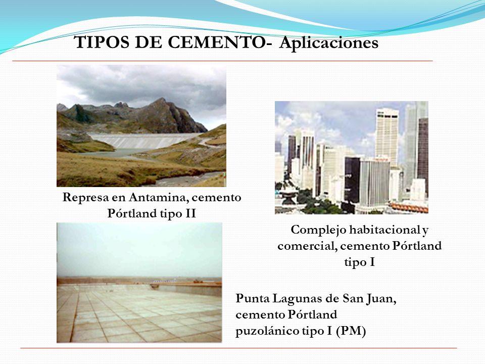 TIPOS DE CEMENTO- Aplicaciones