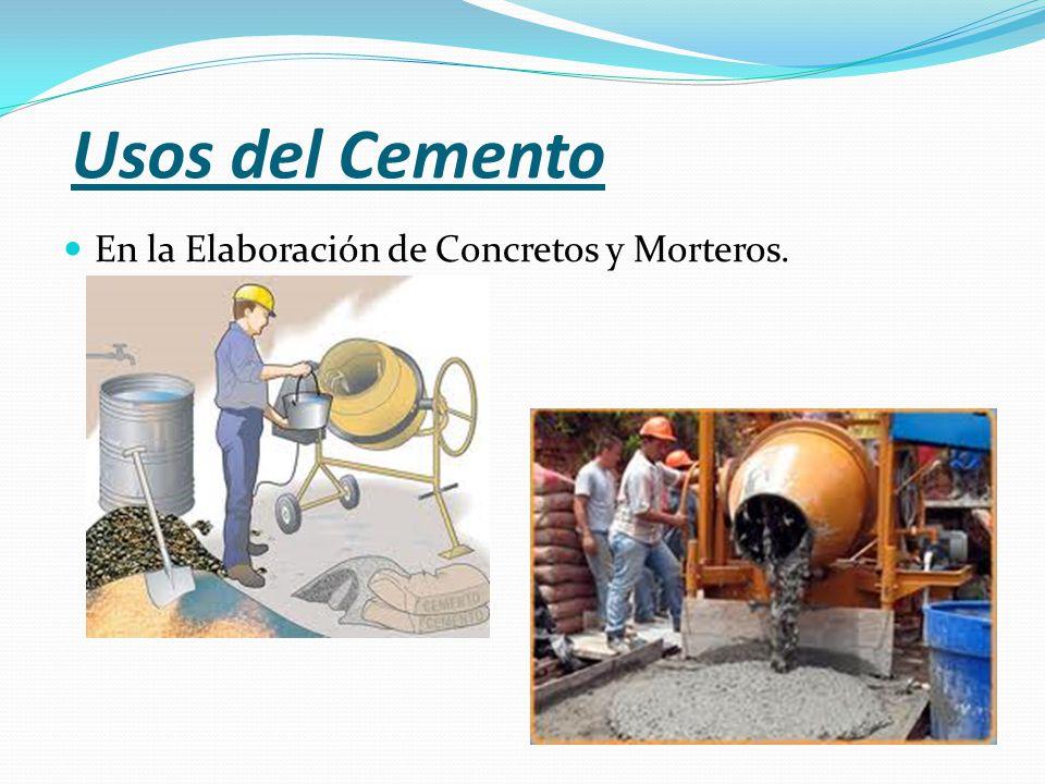 Usos del Cemento En la Elaboración de Concretos y Morteros.