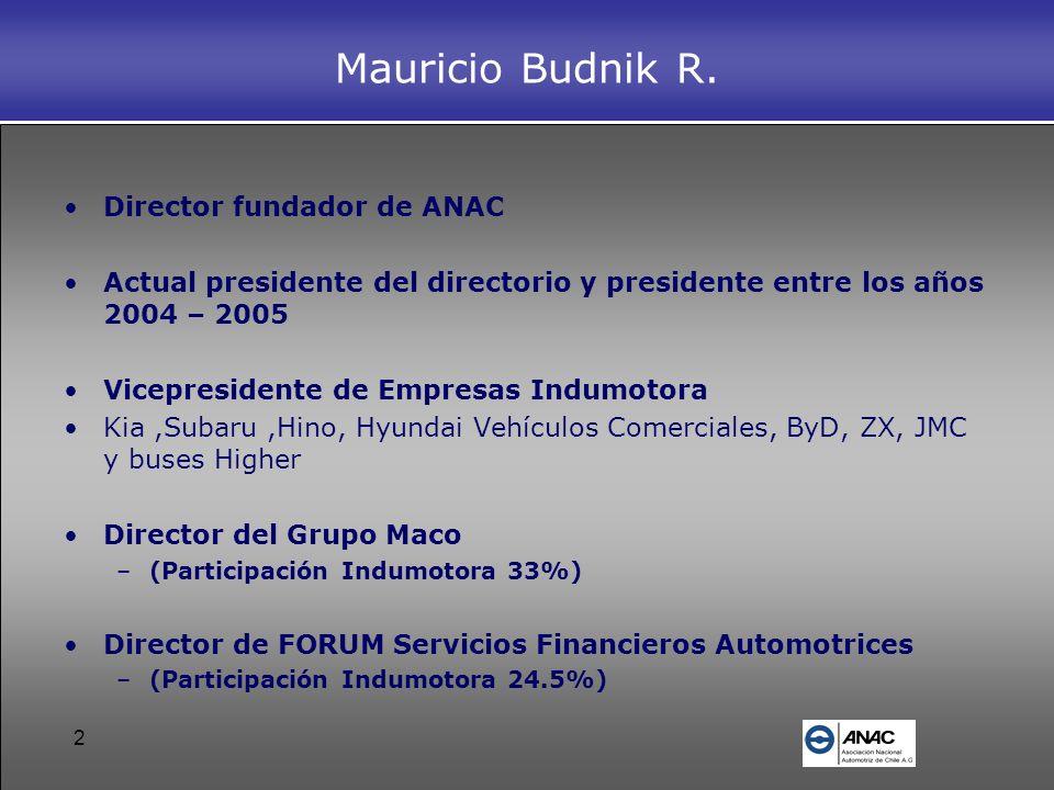 Mauricio Budnik R. Director fundador de ANAC