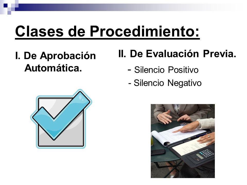 Clases de Procedimiento: