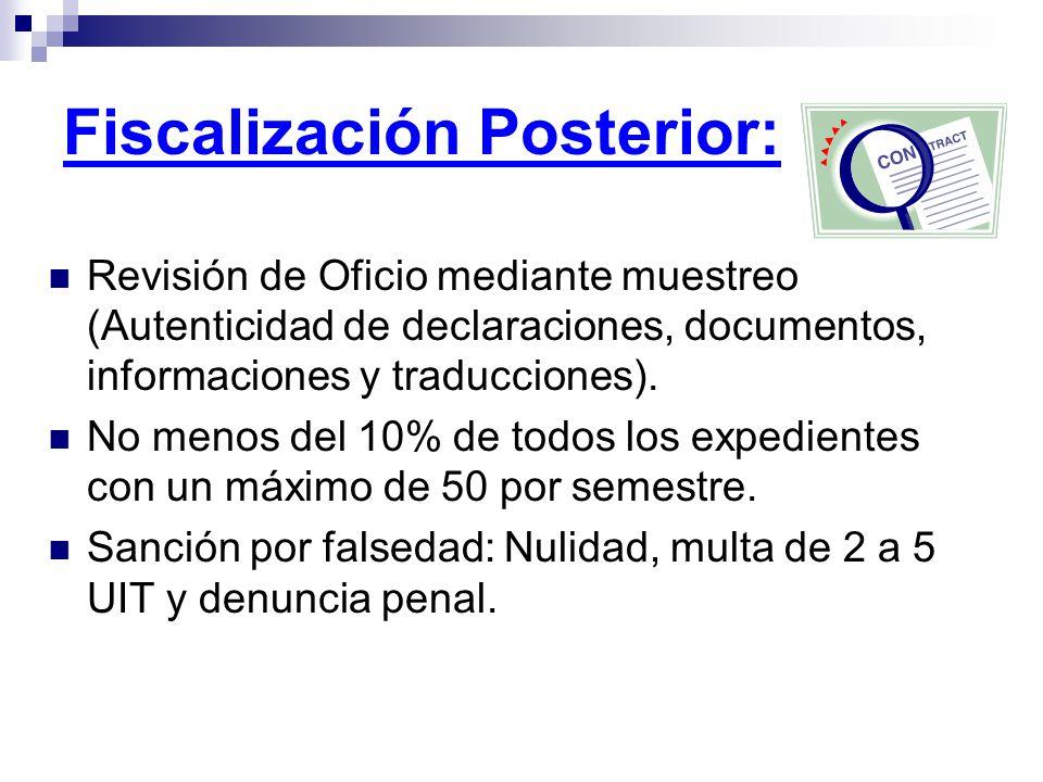 Fiscalización Posterior: