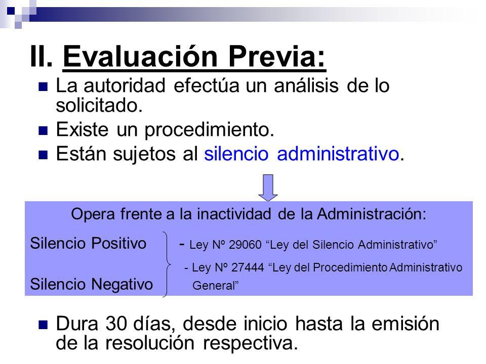 Opera frente a la inactividad de la Administración: