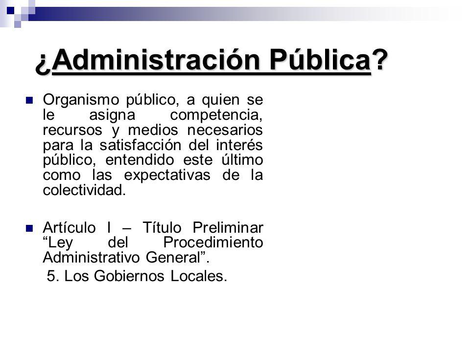 ¿Administración Pública