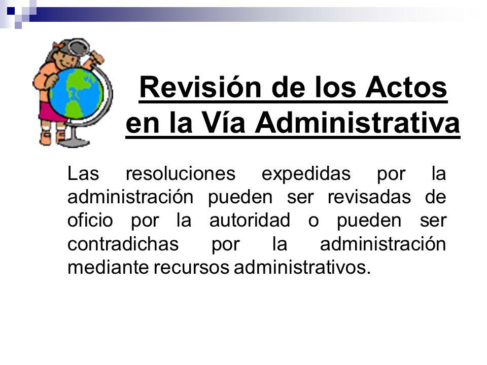 Revisión de los Actos en la Vía Administrativa