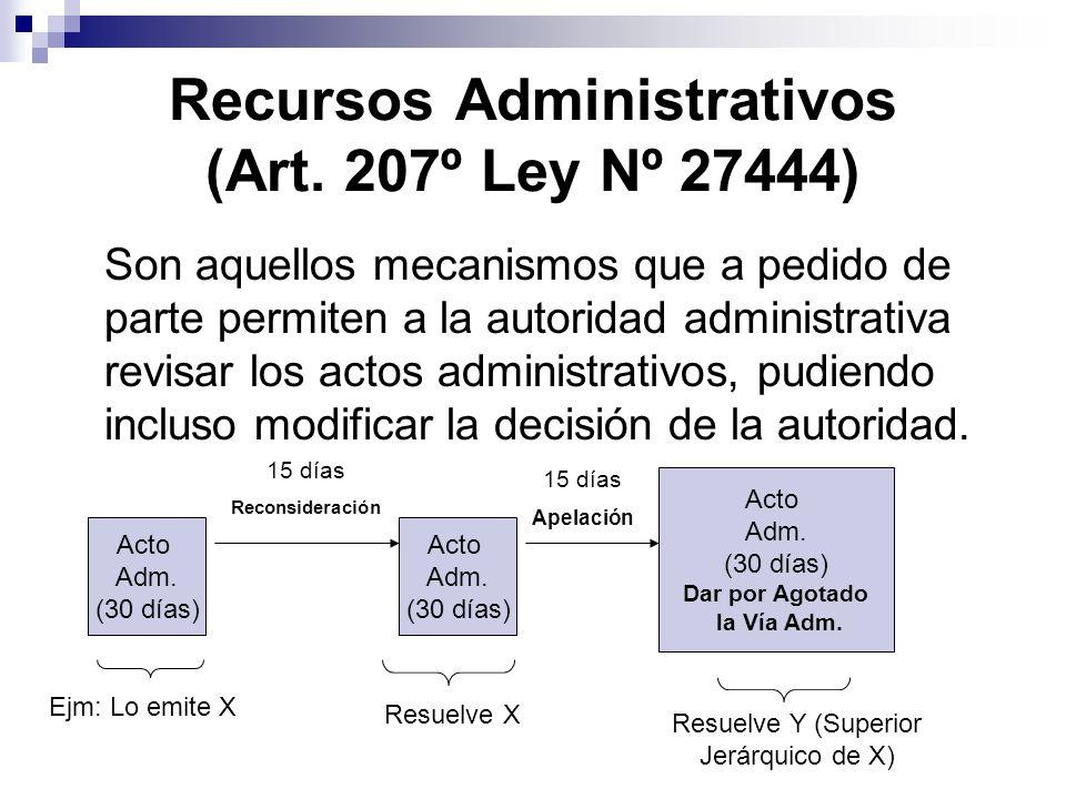 Recursos Administrativos (Art. 207º Ley Nº 27444)