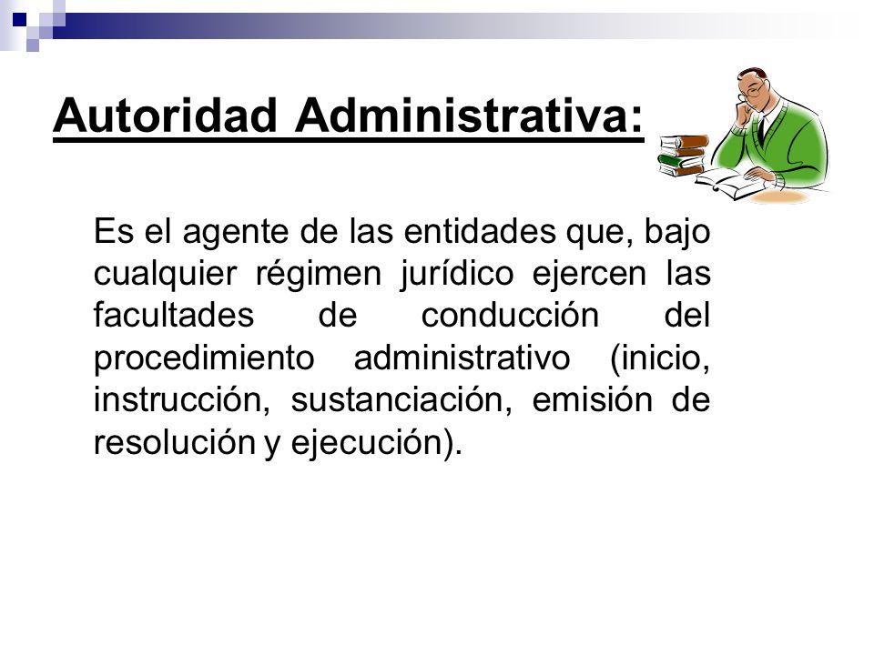 Autoridad Administrativa: