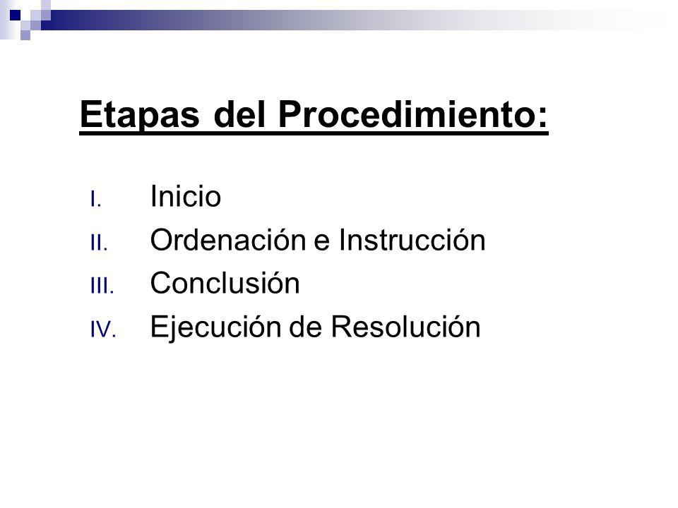 Etapas del Procedimiento: