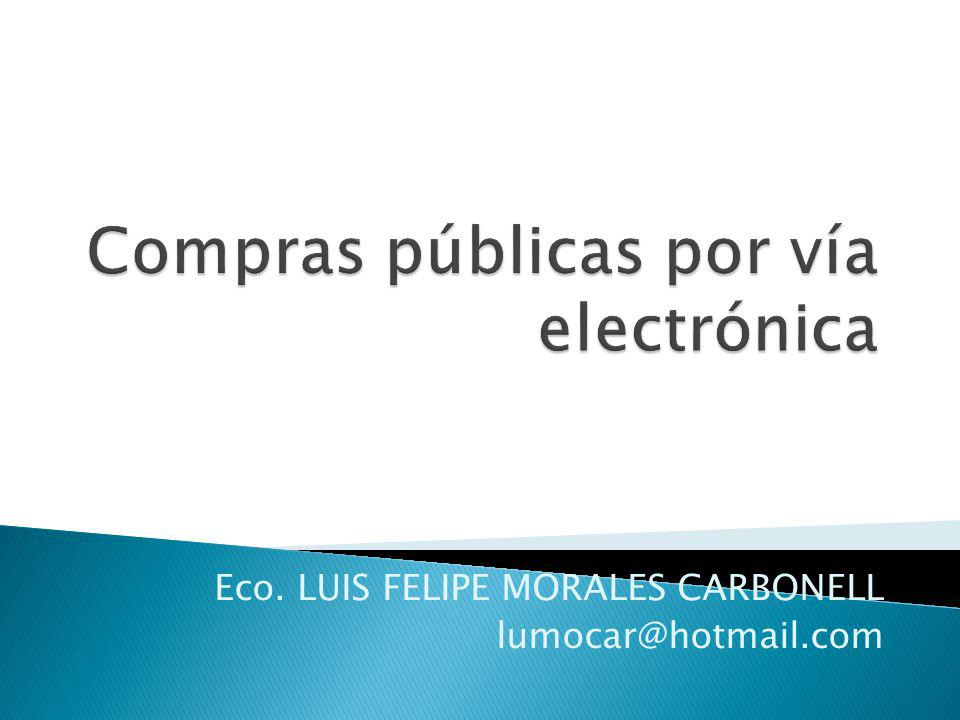 Compras públicas por vía electrónica