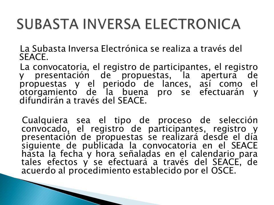 SUBASTA INVERSA ELECTRONICA