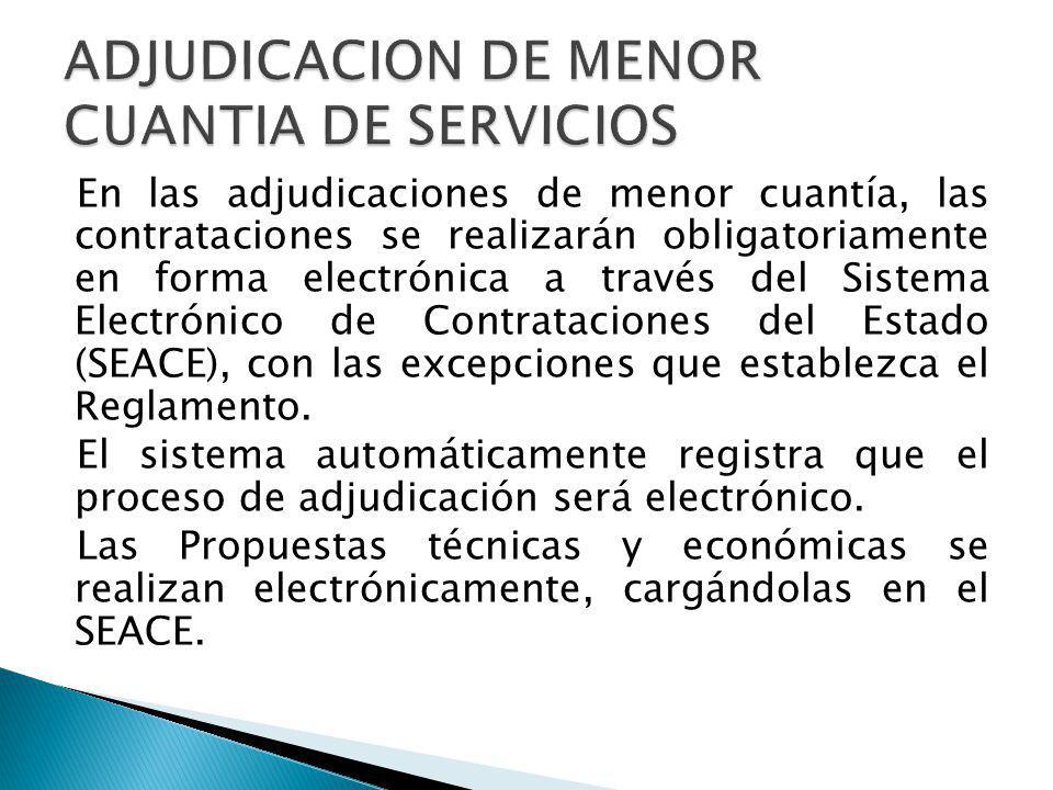 ADJUDICACION DE MENOR CUANTIA DE SERVICIOS