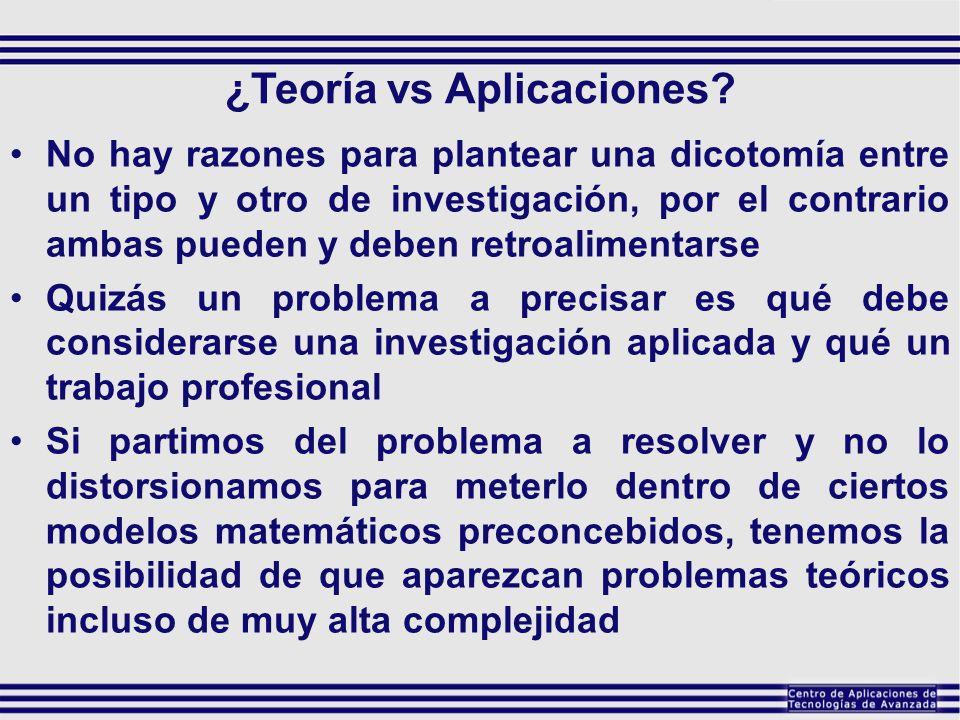 ¿Teoría vs Aplicaciones