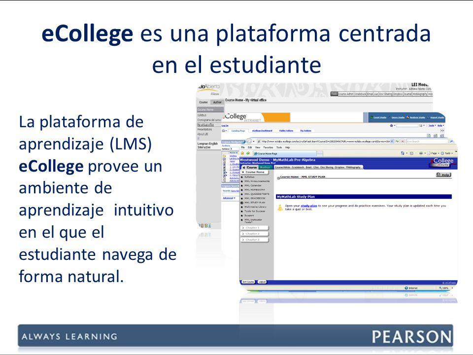 eCollege es una plataforma centrada en el estudiante