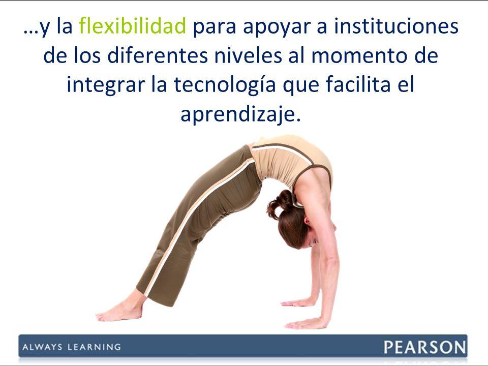 …y la flexibilidad para apoyar a instituciones de los diferentes niveles al momento de integrar la tecnología que facilita el aprendizaje.