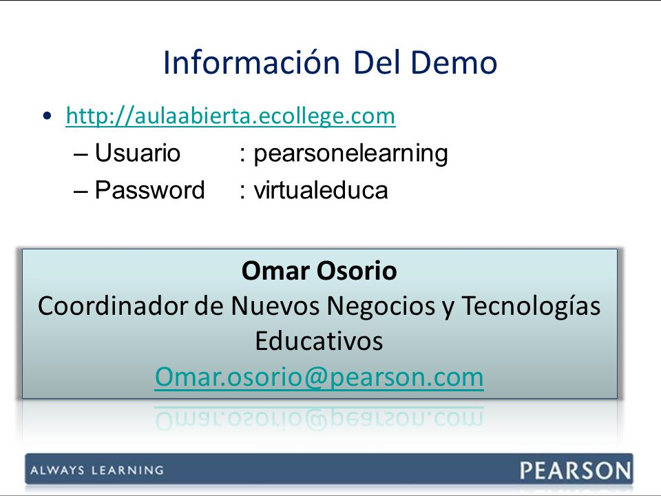 Coordinador de Nuevos Negocios y Tecnologías Educativos
