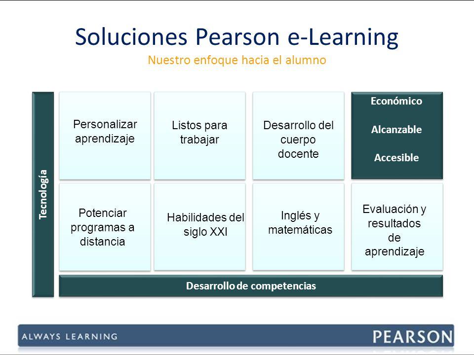 Soluciones Pearson e-Learning Nuestro enfoque hacia el alumno