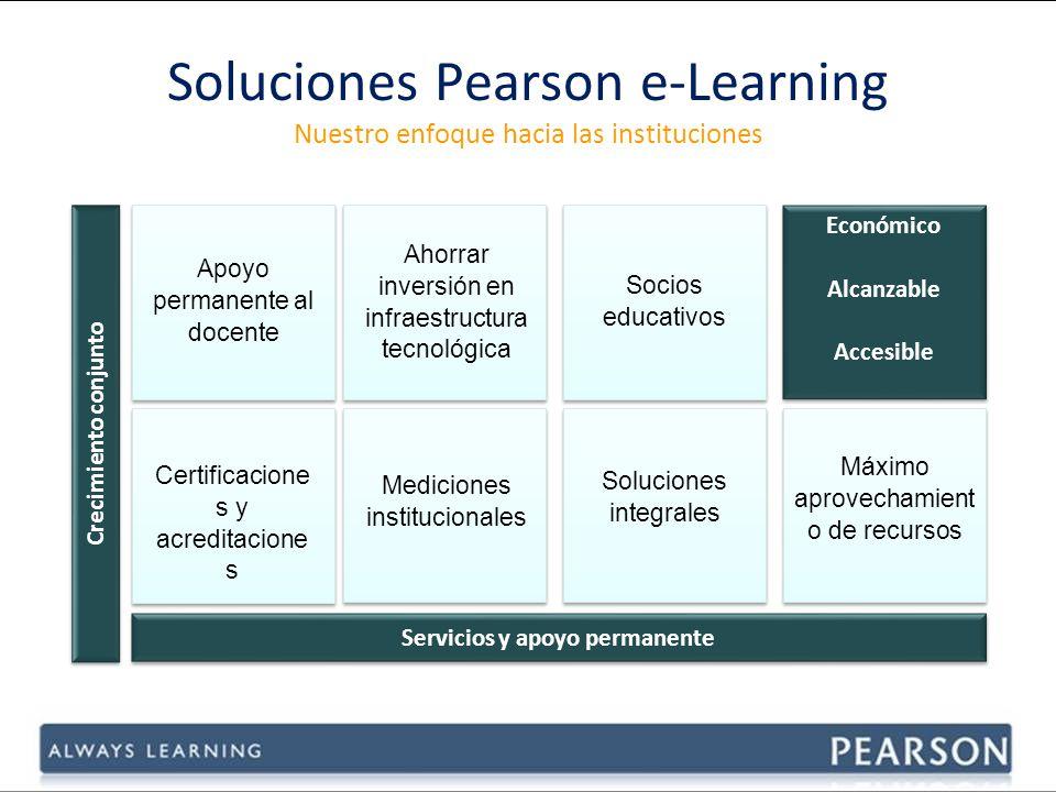 Soluciones Pearson e-Learning Nuestro enfoque hacia las instituciones