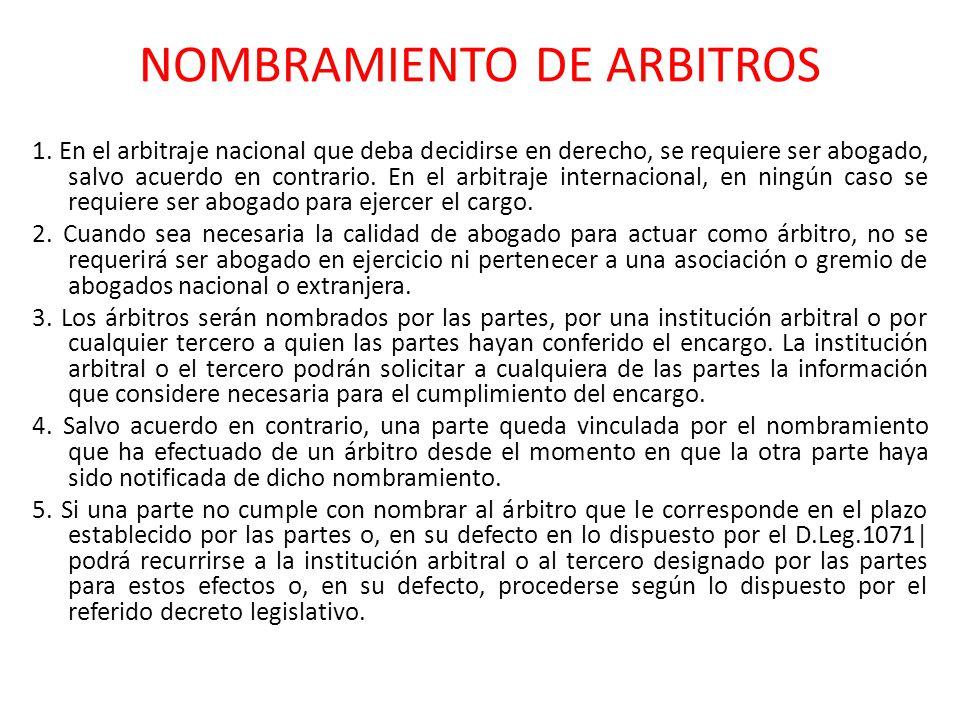 NOMBRAMIENTO DE ARBITROS