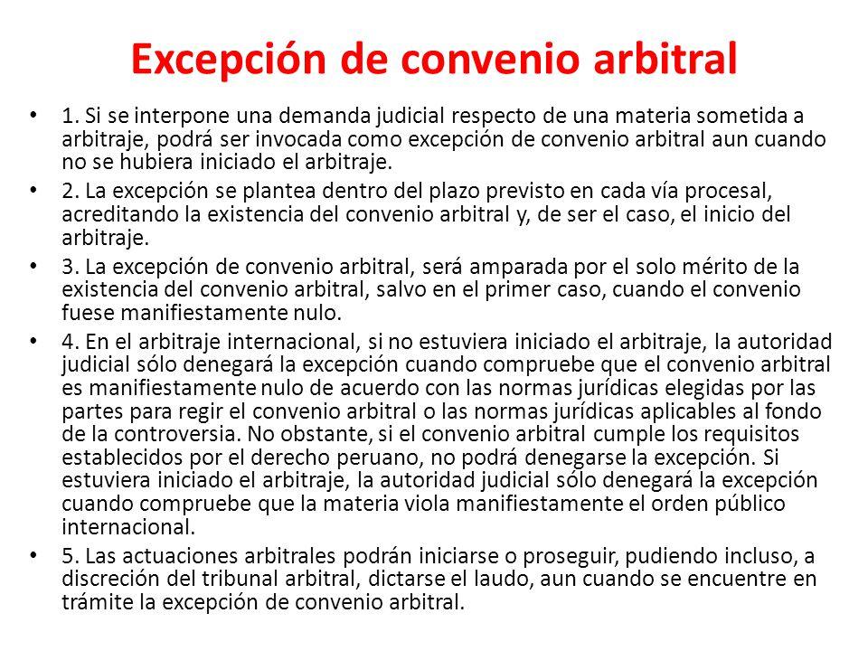 Excepción de convenio arbitral